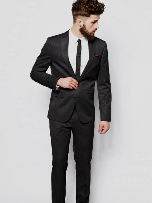 The Classic Black Suit