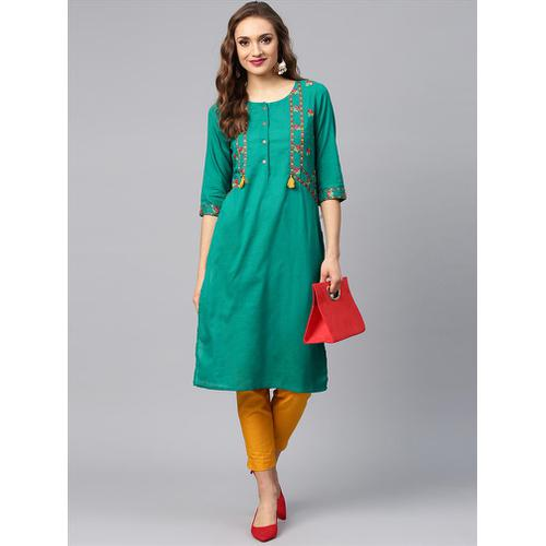 Kurti With Cigarette Pants
