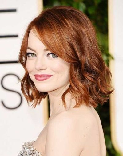 Short Red Curly Hairstyle For Thin Hair