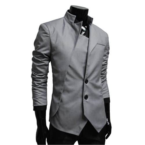 Grey Asymmetrical Design Suit