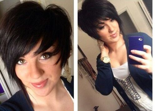Longer Asymmetrical Pixie Cut