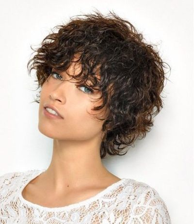 Short Curly Disconnected Pixie Hairstyle