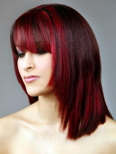 Dual Toned Red Hair Coloring Idea