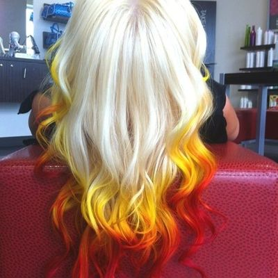 Reverse Sunset Ombre
