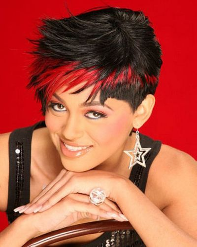 Funky Feather Highlights In Red