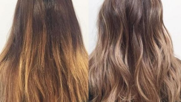 how to get rid of brassy hair with vinegar