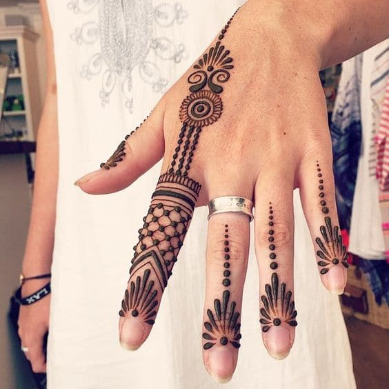 Dotted Henna Tattoo
