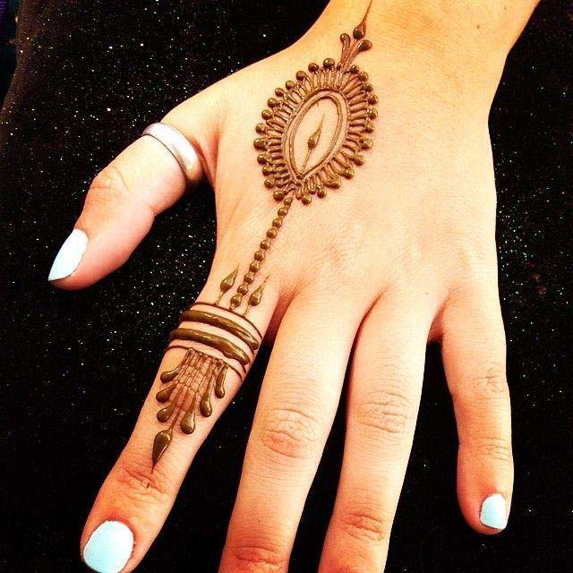 One finger Mehndi Designs