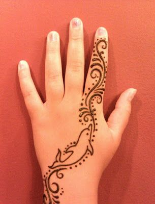 Fish mehndi design for beginners