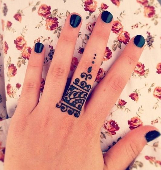 ring mehndi design for beginners -2