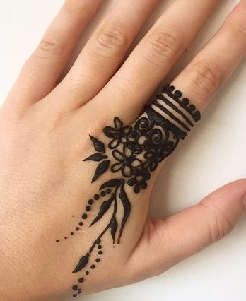 ring mehndi design for beginners -4