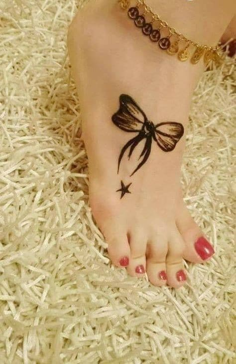 teenager leg mehndi design for beginners