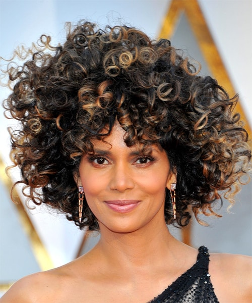 Halle Berry's -Hairstyles for over 50 with glasses