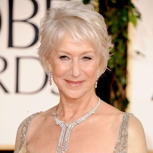 Helen Mirren's -Hairstyles for over 50 with glasses