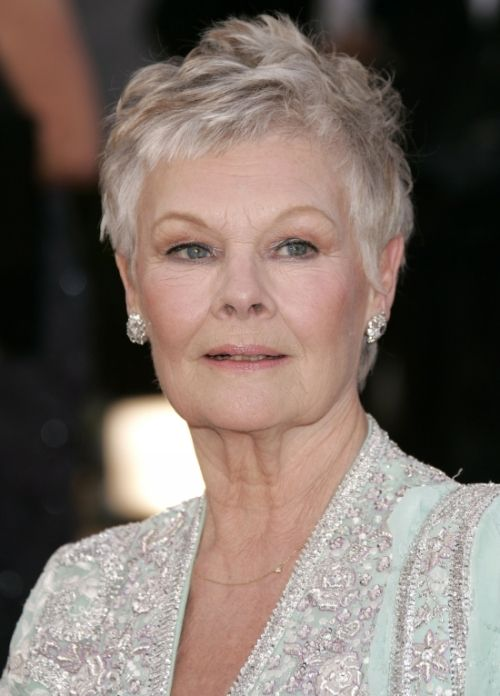 Judi Dench's-Hairstyles for over 50 with glasses