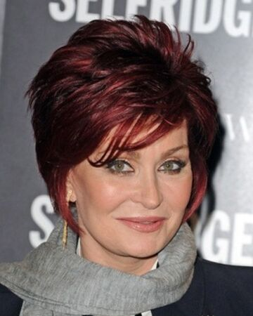 Sharon Osbourne's Ruby Red Cropped Cut