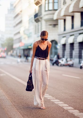 tank top with palazzo trousers